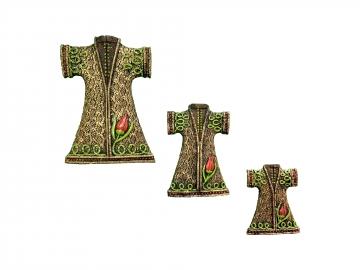 Üçlü Kaftan Set Duvar Süsü Ev Duvar Dekorasyon Kaftan Set