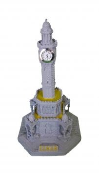 İzmir Saat Kulesi Dekoratif El Yapımı Masa Saati