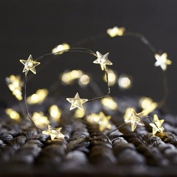 Yıldız Şekilli Pilli Peri Led İnce Tel Led Dekoratif Pilli Led Aydınlatma Yıldız Led Işık