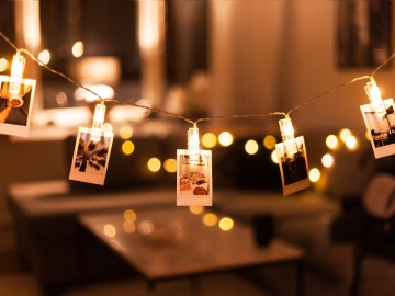 Mandal Şekilli Pilli İp Led Aydınlatma Led Işıklı Mandal Uçlu Fotoğraf Asma Led Işık