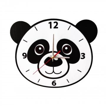 Sevimli Panda Duvar Saati Çocuk Odası Duvar Saati