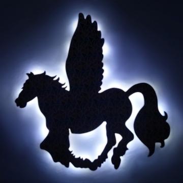 Led Işıklı Renkli Baskı Pegasus Büyük Boy Işıklı Tablo Led Pan