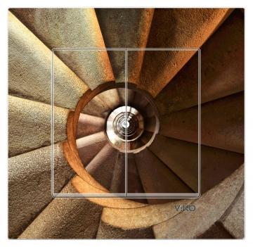 Dekoratif Baskılı Elektrik Düğmesi Elektrik Anahtarı Komütatör Kapaklı Topraklı Priz Kapı Zili Merdiven
