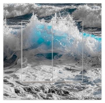 Dekoratif Baskılı Elektrik Düğmesi Elektrik Anahtarı Kapaklı Priz Kapı Zili Dalga Deniz