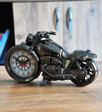Motosiklet Masa Saati Retro Alarmlı Ev Ofis Masa Saati Hediye Süs