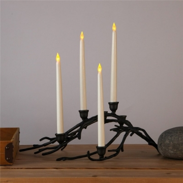 Dekoratif Led Şamdan Mum 27 cm Pilli Led Mum Şamdan Led Işık Mum 1-3-6-12 Adet