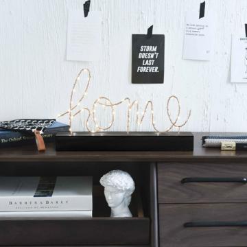 CajuArt Ev Home Yazılı Pilli Led Işık Ev Dekor Aydınlatma Lamba
