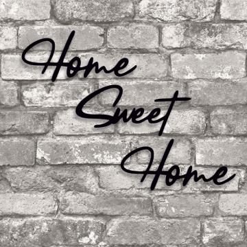 CajuArt Dekoratif Home Sweet Home Yazılı Ahşap Tablo Duvar Süsü