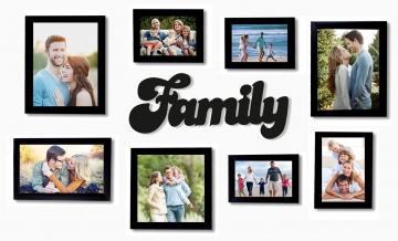 CajuArt Dekoratif Family Aile Ahşap Duvar Tablo Duvar Dekor Yazı