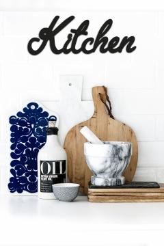 CajuArt Dekoratif Kitchen Mutfak Yazılı Ahşap Duvar Tablo Dekor