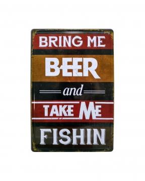 CajuArt Beer Bira Temalı 20x30 cm Metal Plaka Metal Tablo