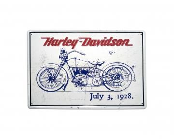 CajuArt Harley Davidson Temalı 20x30 cm Metal Plaka Metal Tablo