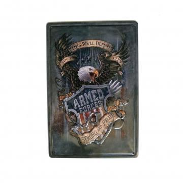 CajuArt Kartal Temalı Retro 20x30 cm Metal Plaka Metal Tablo Süs