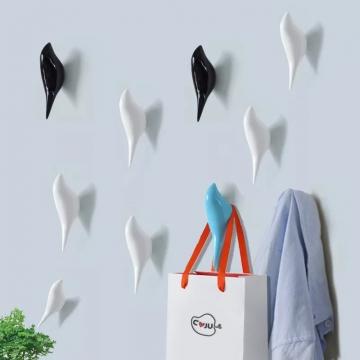 CajuArt Kuş Şeklinde Tek Duvar Askılık Duvar Dekoru Askı Havlu Askısı Modern Dekor Süs