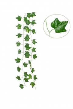 CajuArt 2 Metre Yapay Sarmaşık Büyük Yaprak Şerit Yapay Çiçek Süs Dekor
