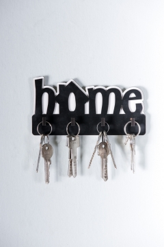 CajuArt Dekoratif Home Yazılı Ahşap Anahtarlık Hol Anahtar Askı