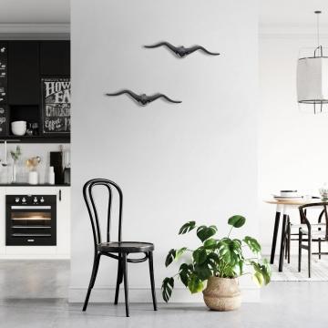 CajuArt Dekoratif İkili Martı Modern Tarz Duvar Dekoru 3D Kabartma Kuş Duvar Süsü