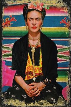 CajuArt Frida kahlo 3 İçindekiler Retro Ahşap Plaka Duvar Dekor Tablo 20x30 cm
