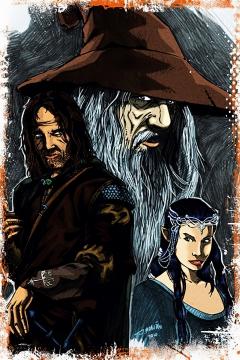 CajuArt Lord Of The Rings İçindekiler Retro Ahşap Plaka Duvar Dekor Tablo 20x30 cm