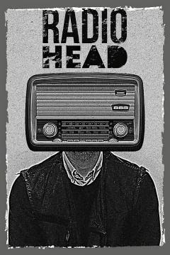 CajuArt Radio Head İçindekiler Retro Ahşap Plaka Duvar Dekor Tablo 20x30 cm