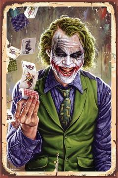 CajuArt Joker 3 İçindekiler Retro Ahşap Plaka Duvar Dekor Tablo 20x30 cm