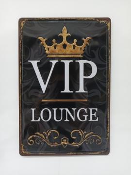 CajuArt VIP Lounge Retro Metal Plaka 20x30 cm Metal Tablo