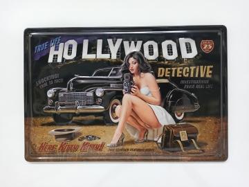 CajuArt Hollywood Tema Retro Metal Plaka 20x30 cm Metal Tablo