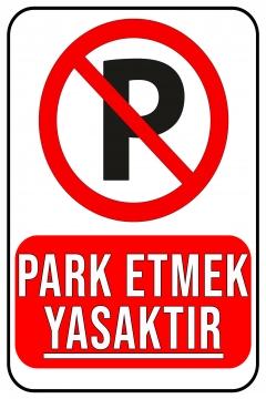 CajuArt Park Etmek Yasaktır Ahşap 20x30 cm Uyarı İkaz Yönlendirme Levhası