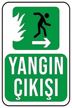 CajuArt Yangn Çıkışı Sağa Ok Ahşap 20x30 cm Uyarı İkaz Yönlendirme Levhası
