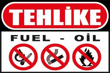 CajuArt Tehlike Fuel-Oil Ahşap 20x30 cm Uyarı İkaz Yönlendirme Levhası