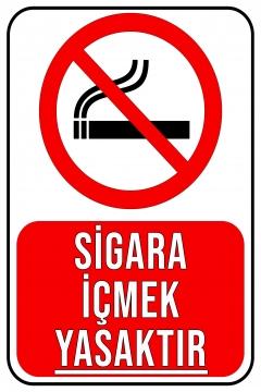 CajuArt Sigara İçmek Yasaktır Ahşap 20x30 cm Uyarı İkaz Yönlendirme Levhası