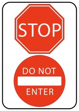CajuArt Stop Do Not Enter Ahşap 20x30 cm Uyarı İkaz Yönlendirme Levhası