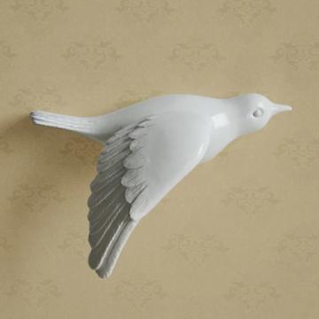 CajuArt Dekoratif Üç Boyutlu Modern Uçan Kuş Duvar Dekoru Biblo Model E