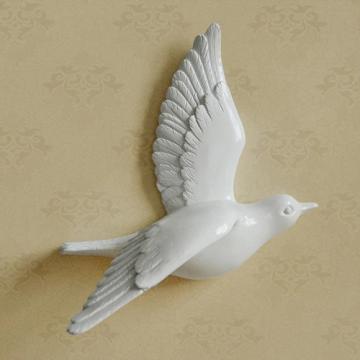 CajuArt Dekoratif Üç Boyutlu Modern Uçan Kuş Duvar Dekoru Biblo Model C