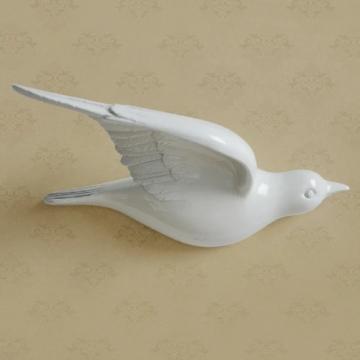 CajuArt Dekoratif Üç Boyutlu Modern Uçan Kuş Duvar Dekoru Biblo Model A