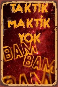 CajuArt Taktik Maktik Yok Tablo Retro Ahşap Plaka Duvar Dekor Tablo 20x30 cm