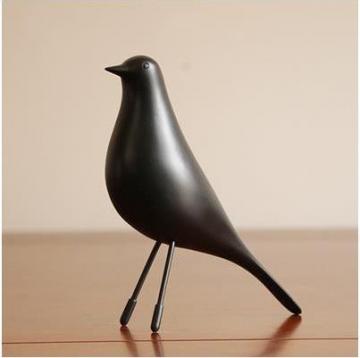 CajuArt Dekoratif Küçük Boy Kuş Biblo Ev Ofis Aksesuarı